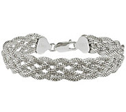 Sterling Silver Mesh Braided 7-1/2 Bracelet by Silver Style - J342027
