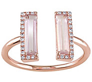 1.15 cttw Pink Quartz & Diamond Accent Ring, 14K Rose Gold - J342527