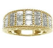 Judith Ripka 14K Clad & Baguette Diamonique Ring - J344627