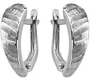 14K Gold Hinged Demi Hoop Earrings - J344827