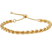 Bronze Adjustable Woven Rope Bracelet by Bronzo Italia - J349427