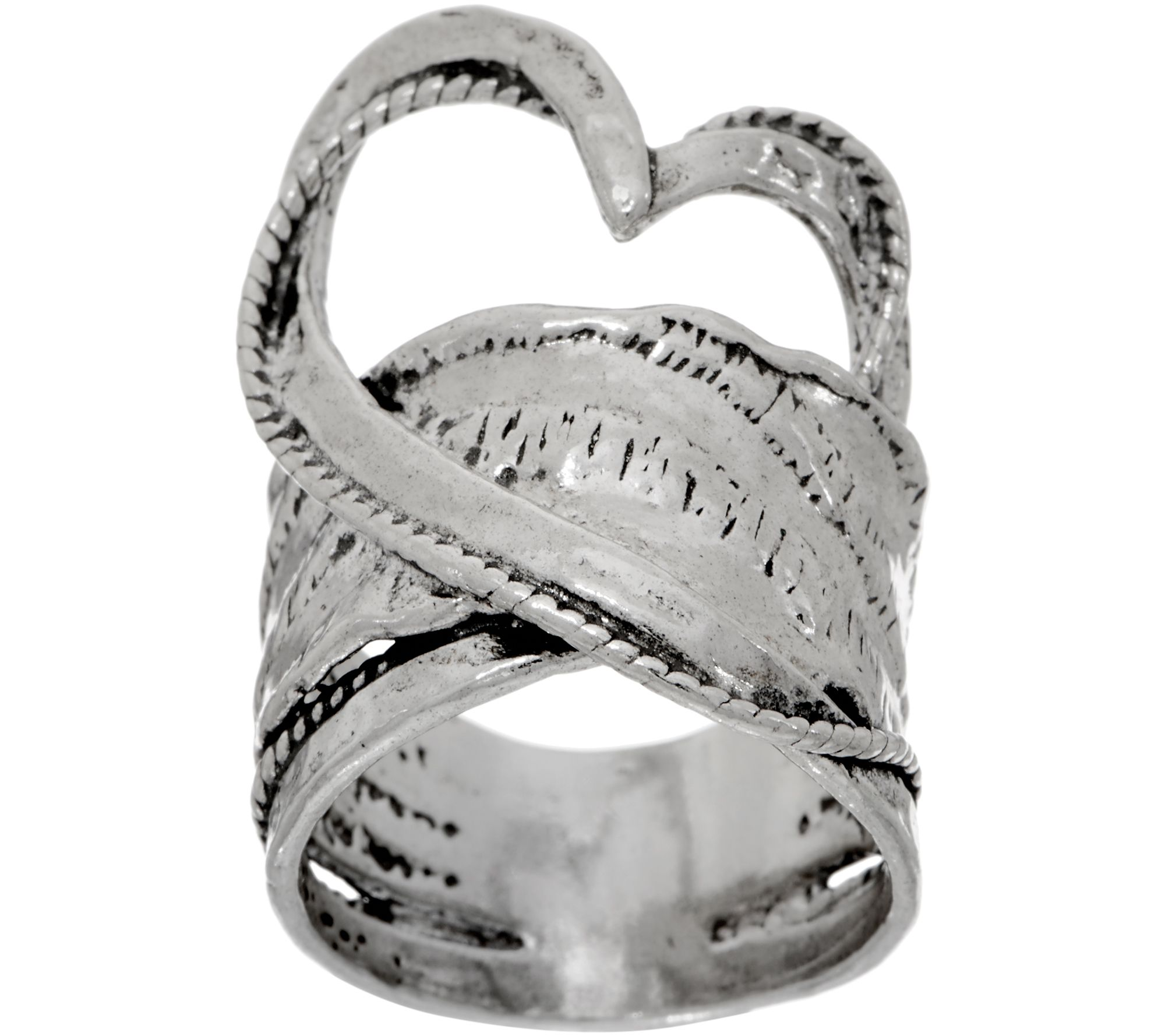 Paz Sterling Free form Heart Ring Page 1 — QVC