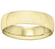 Mens 14K Yellow Gold 6mm Half Round Wedding Band - J375427
