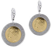 Vicenza Silver Sterling Set of 2 500-Lire Coin Charms - J375627
