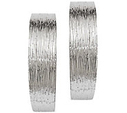 Sterling 1 Hoop Earrings by Silver Style - J375827