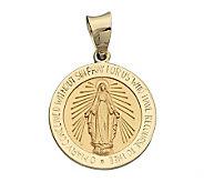14K Yellow Gold Miraculous Medal - J108228