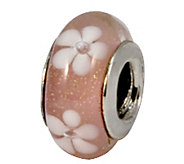 Prerogatives Sterling Pink with White Floral Glass Bead - J109228