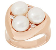 Honora Cultured Pearl 8.0mm Bronze Cluster Ring - J267428