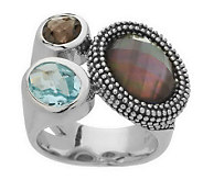 Michael Dawkins Sterling Multi-Gemstone & Granulation Ring - J272828