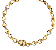As Is Isaac Mizrahi Live! Champagne Crystal 18 Link Necklace - J282128
