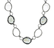 Or Paz Sterling Roman Glass Station Necklace - J290228
