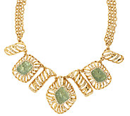 Kara Ross Goldtone Simulated Drusy Bib Necklace - J293128