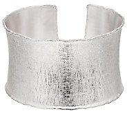 Artisan Crafted Sterling Satin Finish Average Bold Cuff, 36.2g - J294828