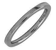 Simply Stacks Sterling Black Rhodium-Plated 2.25mm Flat Ring - J298928
