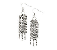 Stainless Steel Multi-Strand Dangle Earrings - J308328
