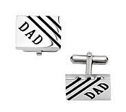 Forza Mens Stainless Steel DAD Rectangle Cuff Links - J313828
