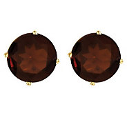 Large Round Gemstone Stud Earrings, 14K Gold - J314028