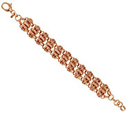 Bronze 8 Polished Woven Love Knot Bracelet by Bronzo Italia - J317128
