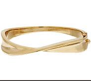 14K Gold Large Polished Twisted Hinged Bangle - J319728