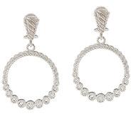 Judith Ripka Sterling & 1/2 ct tw Diamonique Hoop Earrings - J319928