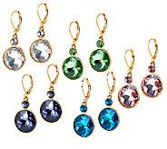 Joan Rivers Set of 5 Round Crystal Drop Earrings - J320728