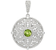 Judith Ripka Sterling 1.20 cttw Peridot Floral Enhancer - J323828
