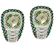 Judith Ripka Sterling_Green Mint Quartz & Pave Earrings - J324028