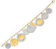 Vicenza Gold Lire Coin Charm Bracelet 14K Gold - J324728