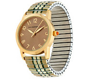 Isaac Mizrahi Live! Plaid Expansion Watch - J325328