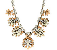 As Is Joan Rivers Crystal & Opaque Jeweled Cluster Necklace - J329028