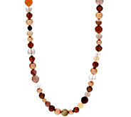 Honora Cultured Pearl and Gemstone 20 Sterling Necklace - J329128