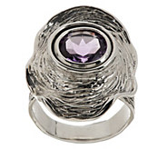 As Is Hagit Sterling Vibes 2.50 cts Amethyst Ring - J329228