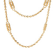 As Is Jacqueline Kennedy Goldtone Paper Clip Necklace - J330328