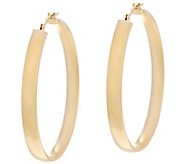 14K Gold 1-1/2 Round Polished Wedding Band Hoop Earrings - J330428