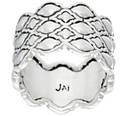 JAI Sterling Silver Taj Texture Band Ring - J330528