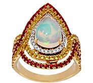 Graziela Gems Ethiopian Opal & Color Sapphire Ring 14K, 1.60 cttw - J330628