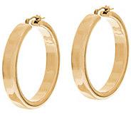 As Is Oro Nuovo 1-1/2 Polished Round Hoop Earrings, 14K - J330728