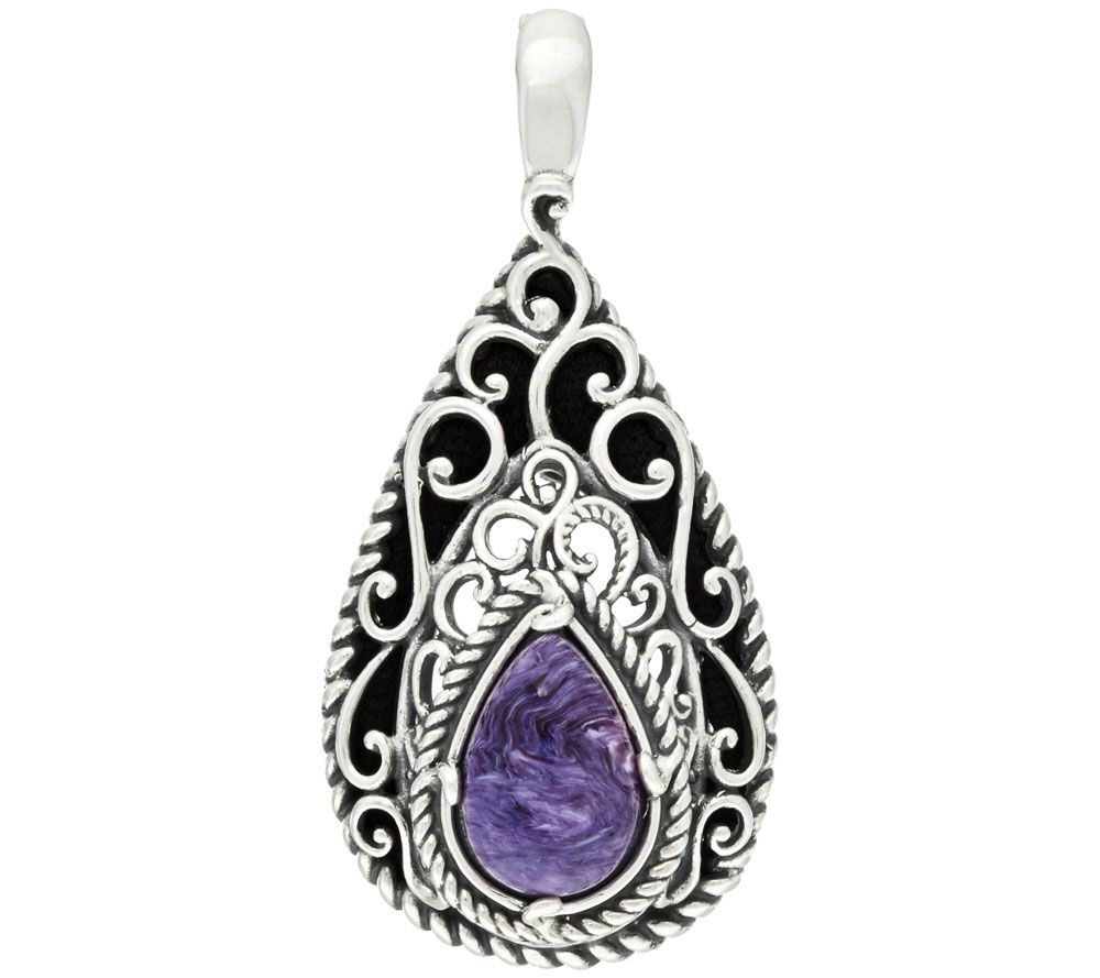 As is carolyn pollack sterling charoite for Carolyn pollack jewelry qvc