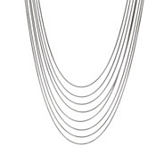 Bronze 8-Strand Snake Chain Necklace by Bronzo Italia - J333628