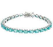 Blue Apatite Sterling Silver 6-3/4 Tennis Bracelet 9.10 cttw - J334028