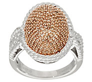 Pave Colored Diamond Bold Ring, Sterling, 3/4 cttw by Affinity - J345928