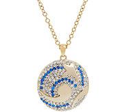 Grace Kelly Collection Swirling Sea Reversible Pendant w/Chain - J346328