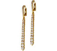Judith Ripka Sterling or 14K Clad Graduated Diamonique Line Earrings - J348628