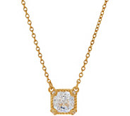 Judith Ripka 14K Clad 118 Facet Cushion Diamonique Necklace - J350328