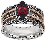 Or Paz Sterling Silver Marquise Gemstone Spinner Ring - J353128