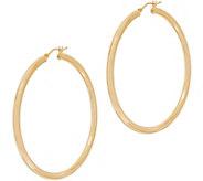 Italian Gold 2 Round Polished Hoop Earrings 14K Gold - J353728