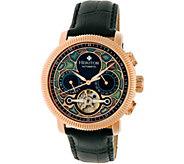 Heritor Automatic Aura Watch - Rosetone/Black - J380328