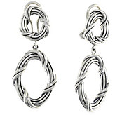 Peter Thomas Roth Sterling Signature Oval OmegaBack Earrings - J380428