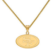 Sterling & 14K NFL Small Pendant with 18 Chain - J380728