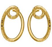 Italian Gold 1-1/4 Twisted Hoop Earrings 14K,3.2g - J382128